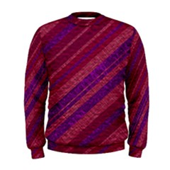 Maroon Striped Texture Men s Sweatshirt by Mariart