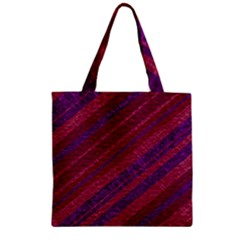 Maroon Striped Texture Zipper Grocery Tote Bag by Mariart