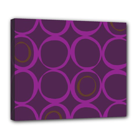 Original Circle Purple Brown Deluxe Canvas 24  X 20   by Mariart