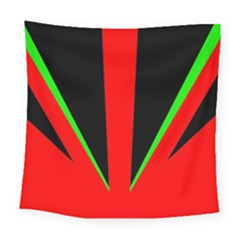 Rays Light Chevron Green Red Black Square Tapestry (large) by Mariart