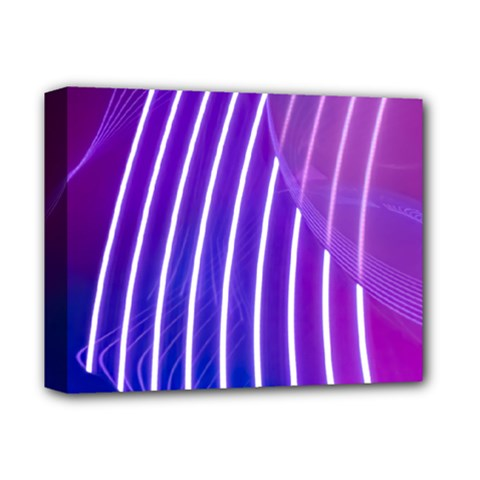 Rays Light Chevron Blue Purple Line Light Deluxe Canvas 14  X 11  by Mariart