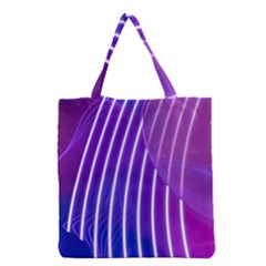 Rays Light Chevron Blue Purple Line Light Grocery Tote Bag by Mariart
