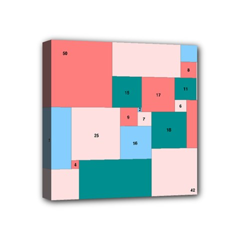 Simple Perfect Squares Squares Order Mini Canvas 4  X 4  by Mariart