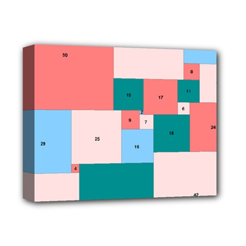 Simple Perfect Squares Squares Order Deluxe Canvas 14  X 11  by Mariart