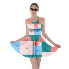 Simple Perfect Squares Squares Order Skater Dress by Mariart