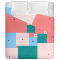 Simple Perfect Squares Squares Order Duvet Cover Double Side (california King Size) by Mariart