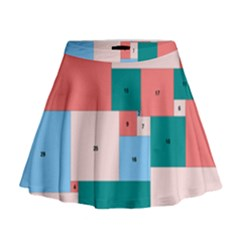 Simple Perfect Squares Squares Order Mini Flare Skirt by Mariart