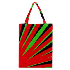 Rays Light Chevron Red Green Black Classic Tote Bag by Mariart