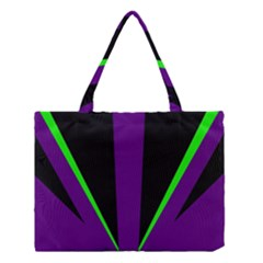 Rays Light Chevron Purple Green Black Line Medium Tote Bag by Mariart