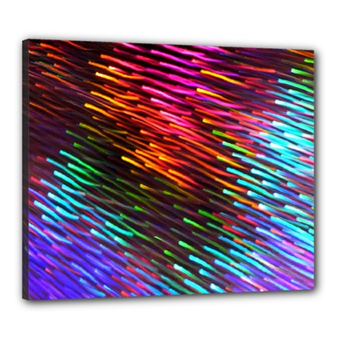 Rainbow Shake Light Line Canvas 24  X 20  by Mariart