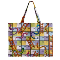 Snakes Ladders Game Board Zipper Mini Tote Bag by Mariart