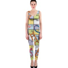 Snakes Ladders Game Board Onepiece Catsuit by Mariart