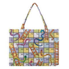 Snakes Ladders Game Board Medium Tote Bag by Mariart