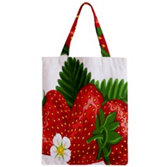 Strawberry Red Seed Leaf Green Classic Tote Bag by Mariart