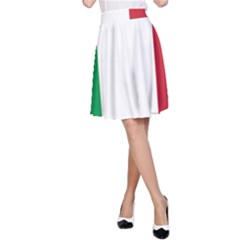 National Flag Of Italy  A Line Skirt