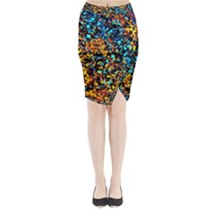 Colorful Seashell Beach Sand Midi Wrap Pencil Skirt