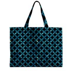 Circles3 Black Marble & Blue Green Water Zipper Mini Tote Bag by trendistuff