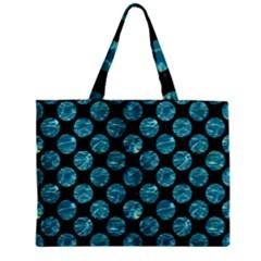 Circles2 Black Marble & Blue Green Water Zipper Mini Tote Bag by trendistuff