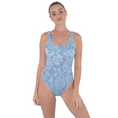 Vintage Morris Floral Blue Bring Sexy Back Swimsuit by pixeldiva