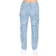 Vintage Morris Floral Blue Drawstring Pants by pixeldiva