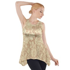 Vintage Morris Floral Brown Side Drop Tank Tunic by pixeldiva