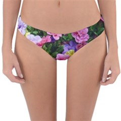 Lovely Flowers 17 Reversible Hipster Bikini Bottoms by MoreColorsinLife