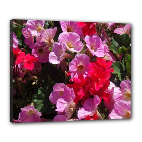 Wonderful Pink Flower Mix Canvas 20  X 16  by MoreColorsinLife