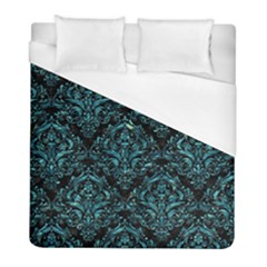 Damask1 Black Marble & Blue Green Water Duvet Cover (full/ Double Size) by trendistuff