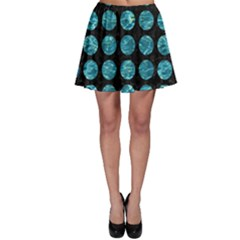 Circles1 Black Marble & Blue Green Water Skater Skirt by trendistuff
