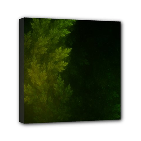 Beautiful Fractal Pines In The Misty Spring Night Mini Canvas 6  X 6  by beautifulfractals
