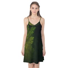 Beautiful Fractal Pines In The Misty Spring Night Camis Nightgown by jayaprime
