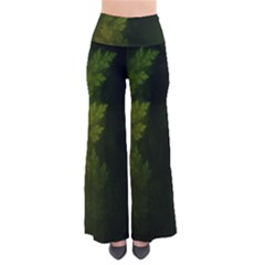 Beautiful Fractal Pines In The Misty Spring Night Pants by jayaprime