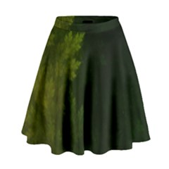 Beautiful Fractal Pines In The Misty Spring Night High Waist Skirt by jayaprime