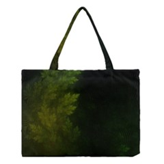Beautiful Fractal Pines In The Misty Spring Night Medium Tote Bag by beautifulfractals
