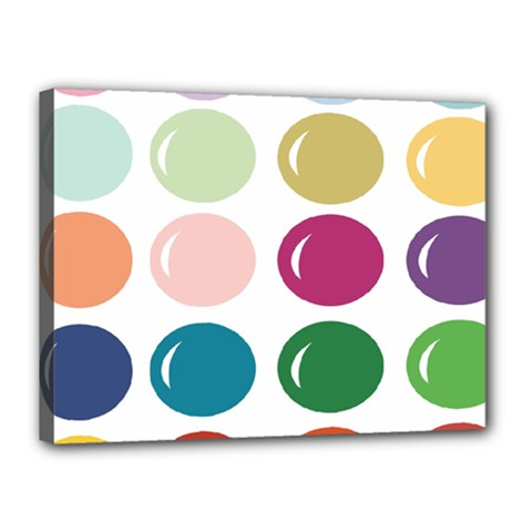Brights Pastels Bubble Balloon Color Rainbow Canvas 16  X 12  by Mariart