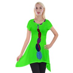 Egg Line Rainbow Green Short Sleeve Side Drop Tunic by Mariart