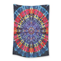 Circle Purple Green Tie Dye Kaleidoscope Opaque Color Small Tapestry by Mariart