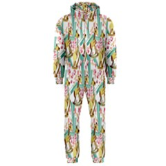 Wooden Gorse Illustrator Photoshop Watercolor Ink Gouache Color Pencil Hooded Jumpsuit (men)  by Mariart