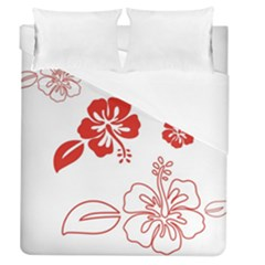Hawaiian Flower Red Sunflower Duvet Cover (queen Size) by Mariart