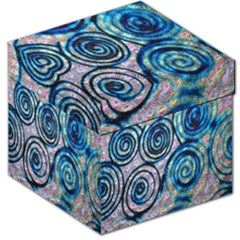 Green Blue Circle Tie Dye Kaleidoscope Opaque Color Storage Stool 12   by Mariart