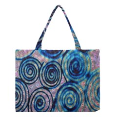 Green Blue Circle Tie Dye Kaleidoscope Opaque Color Medium Tote Bag by Mariart