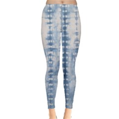 Indigo Grey Tie Dye Kaleidoscope Opaque Color Leggings