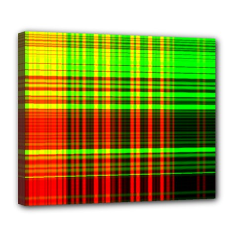 Line Light Neon Red Green Deluxe Canvas 24  X 20   by Mariart