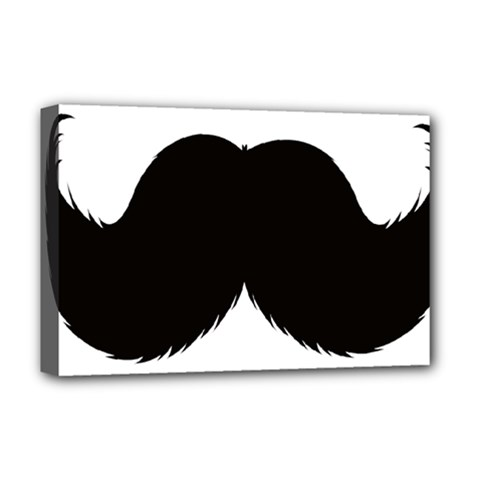 Mustache Owl Hair Black Man Deluxe Canvas 18  X 12   by Mariart