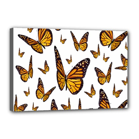 Butterfly Spoonflower Canvas 18  X 12  by Mariart