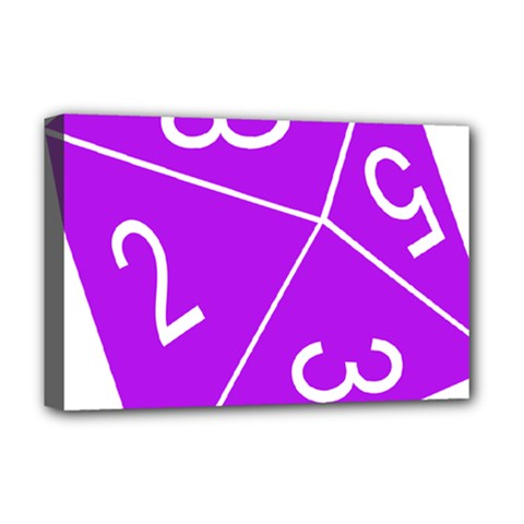 Number Purple Deluxe Canvas 18  X 12   by Mariart