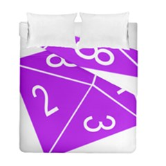 Number Purple Duvet Cover Double Side (full/ Double Size) by Mariart