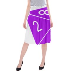 Number Purple Midi Beach Skirt by Mariart
