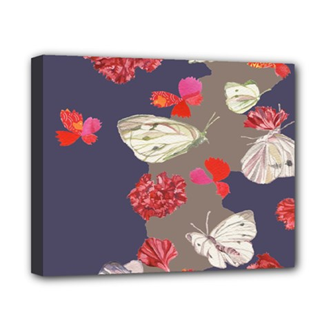 Original Butterfly Carnation Canvas 10  X 8  by Mariart