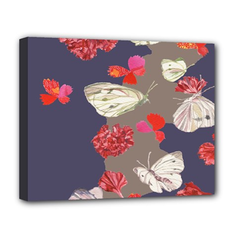 Original Butterfly Carnation Deluxe Canvas 20  X 16   by Mariart